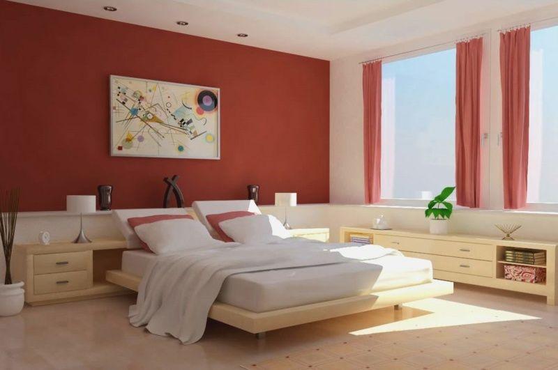 schlafzimmer dekoartikel regal komplett gestalten braun warm, Moderne deko
