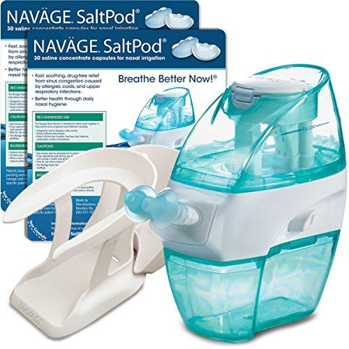 Navage Nose Cleaner And 30 Saltpod Capsules Allergy Sinus