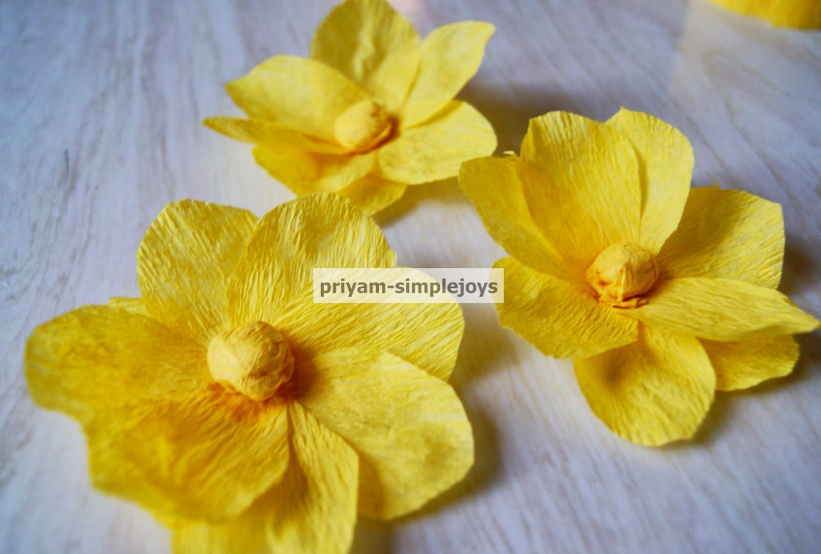 Crepe Paper Flower  Crepe paper Craft and Paper ribbon