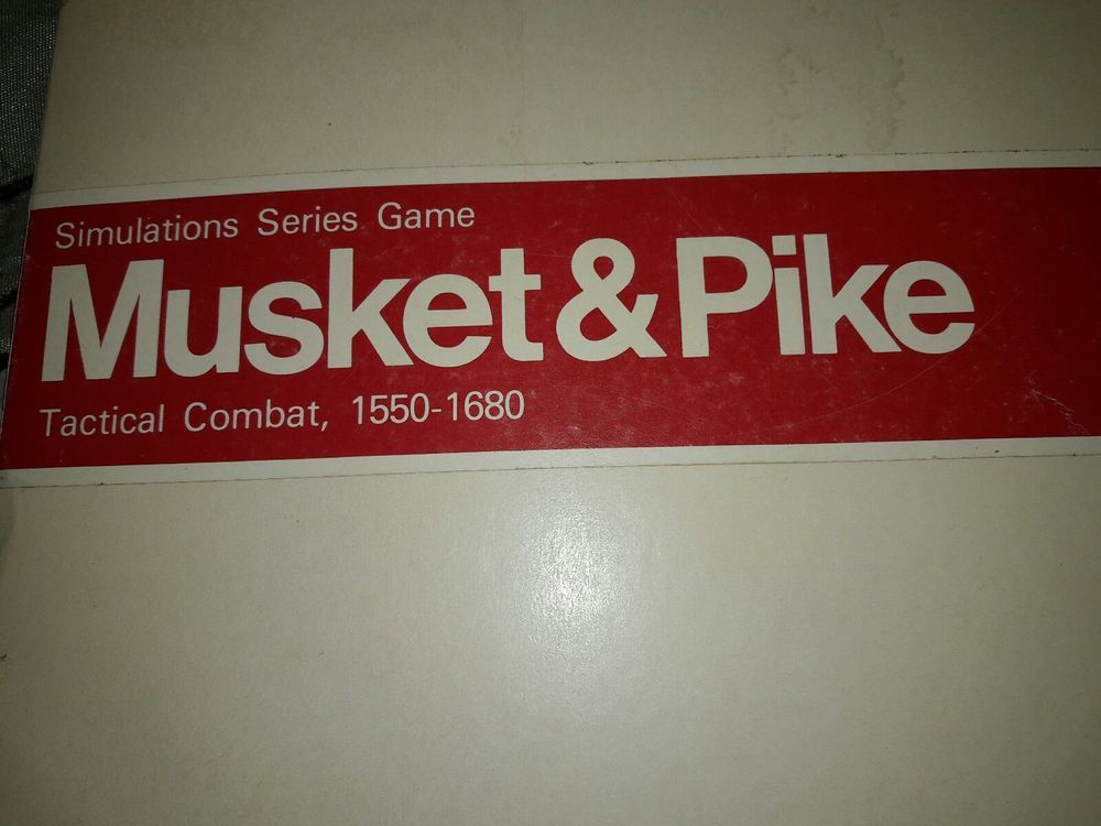 """Vintage SPI Wargame """"Musket & Pike"""" (Tactical Combat 1550-1680) For Pieces   Toys & Hobbies, Games, Board & Traditional Games   eBay!"""