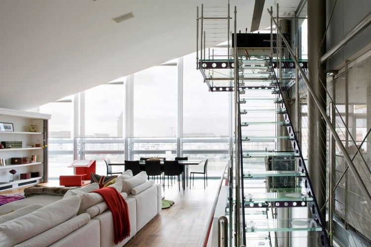 home design A Steel Glass Penthouse in London