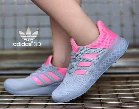 Adidas 3d Turqoise Premium Cewek Grey Pink Size 37 41 Harga 320