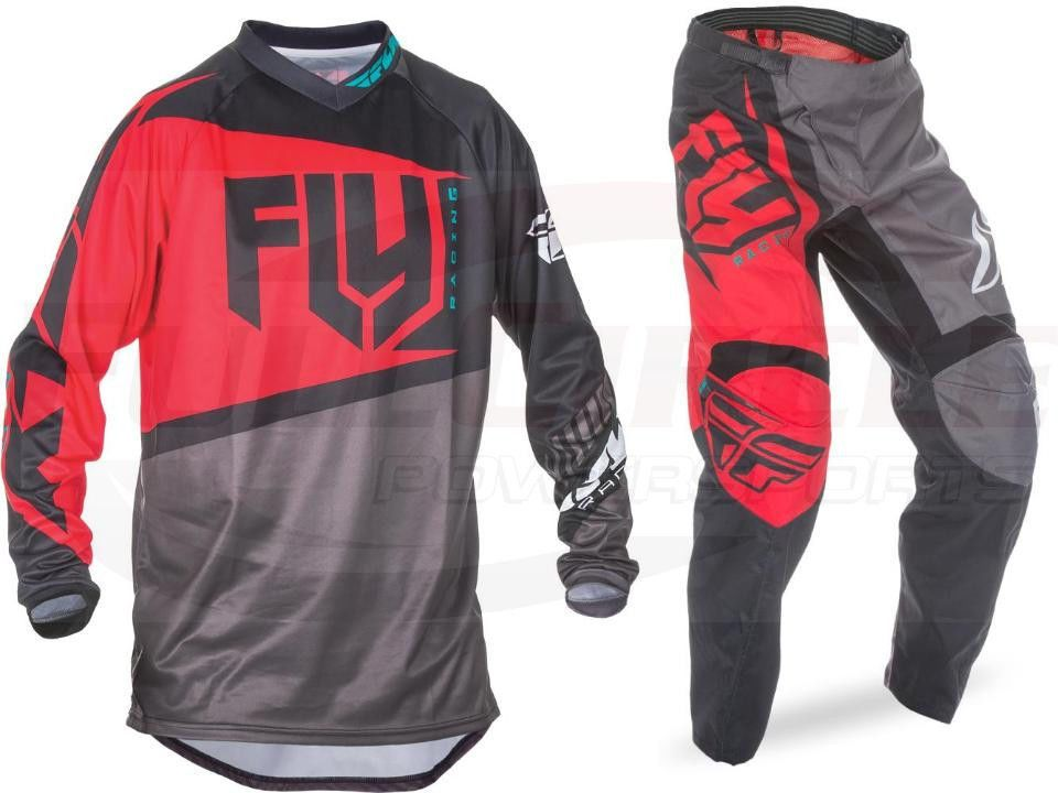 Red//Black Fly 2017 F-16 MX Motocross Adult Enduro Bike Off Road Pants Trouser
