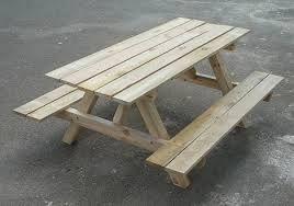 Medidas para hacer un banco y mesa de madera para el - Como hacer bancos de madera ...