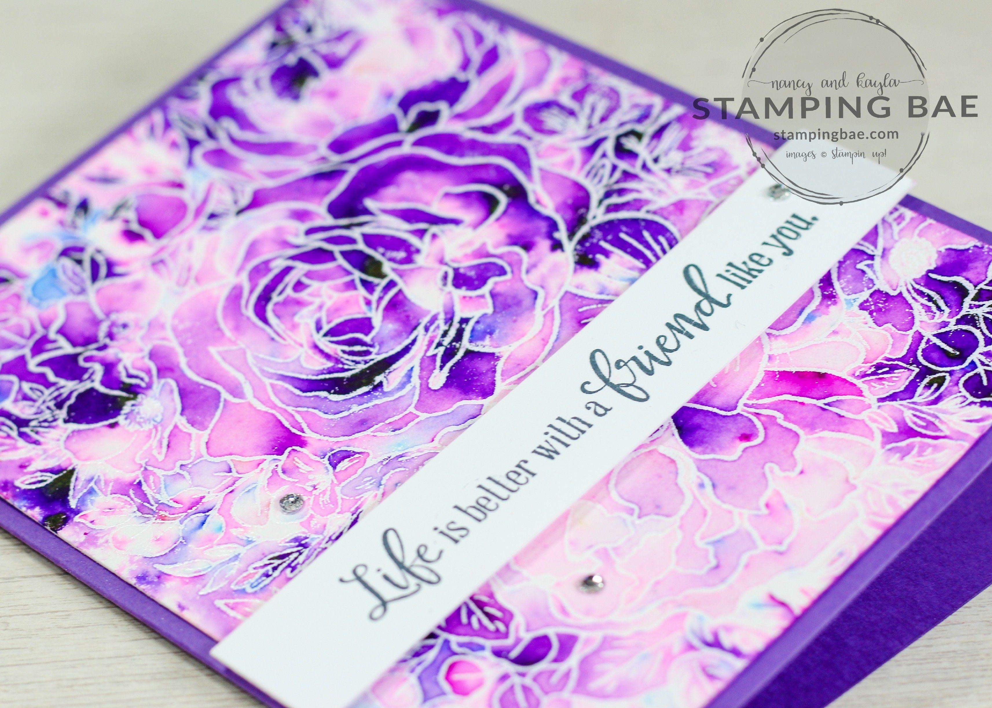Grape breathtaking bouquet card purple cards