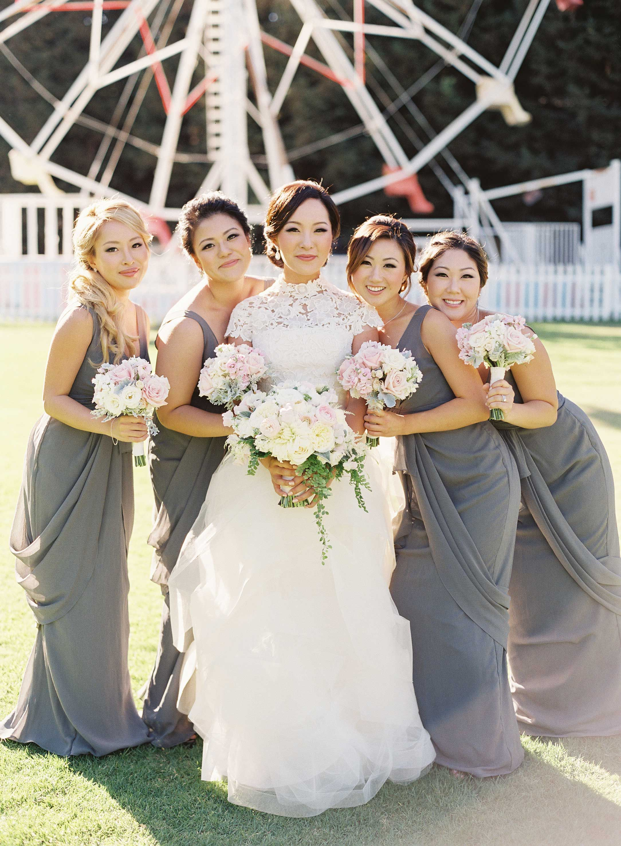 3a9d2e687 Yellow And Gray Wedding Bridesmaid Dresses