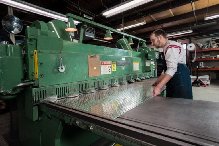 Allied Steel Inc Specializes In Steel Shearing Fabrication Services For All Our Steel Shearing S Sheet Metal Fabrication Metal Fabrication Steel Fabrication