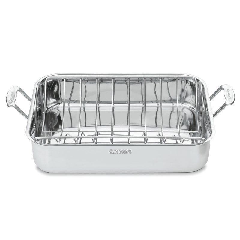 Cuisinart 16 Roaster With Rack Large Enough To Handle Thanksgiving Turkey New Roasting Racks Cuisinart Kitchen Cookware