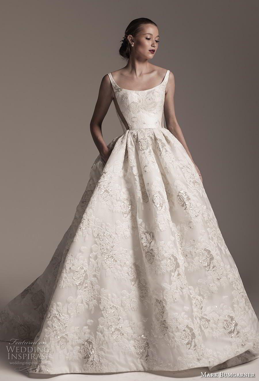 17a27db78b626 mark bumgarner fall 2018 bridal sleeveless thin strap scoop neckline full embellishment  romantic princess ball gown