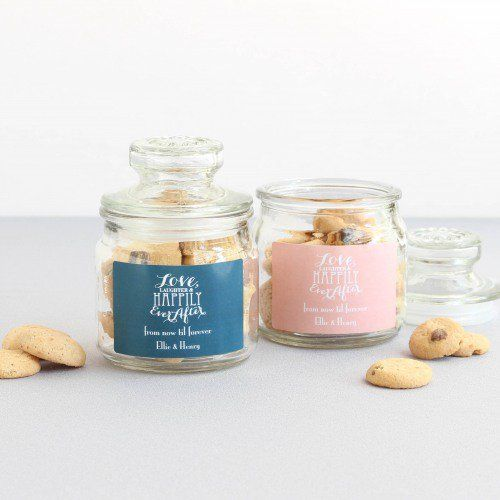 Personalized Love Laughter Mini Cookie Jars