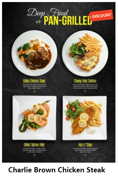 Best Chicken Steak Meal Promotion In Singapore Now At Charlie Brown Cafe Cathay Cineleisure Orchard Mall Choose Christmas Dinner Menu Charlie Brown Cafe Food
