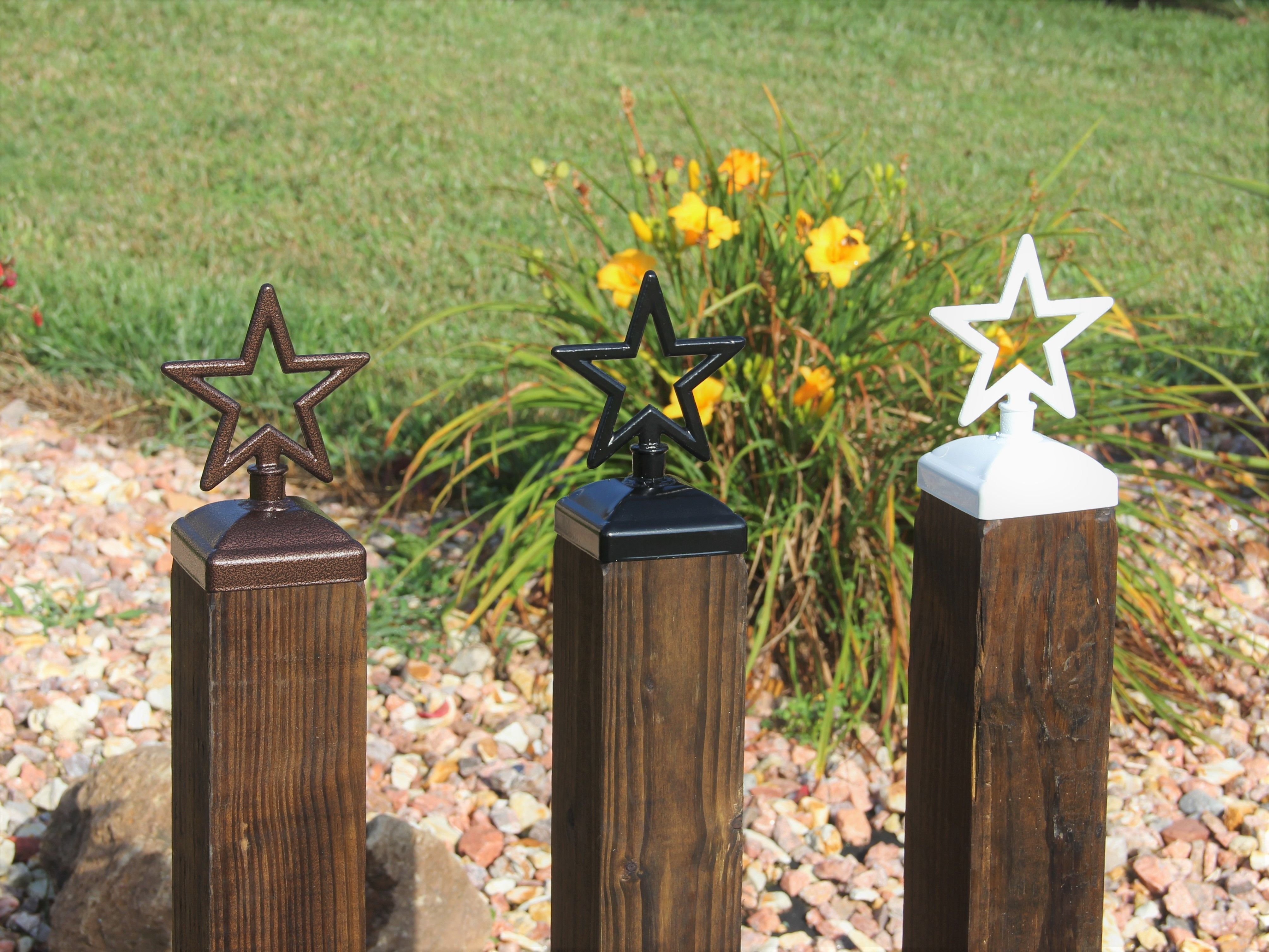 decorative fence post attractive star fence post cap decorative for 4x4 deck and top