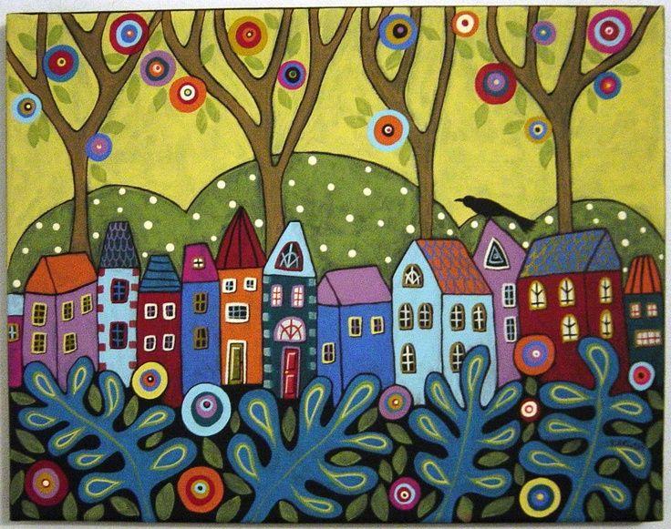 Folk Art Google Search Skurrile Kunst Acrylmalerei Abstrakt Naive Kunst