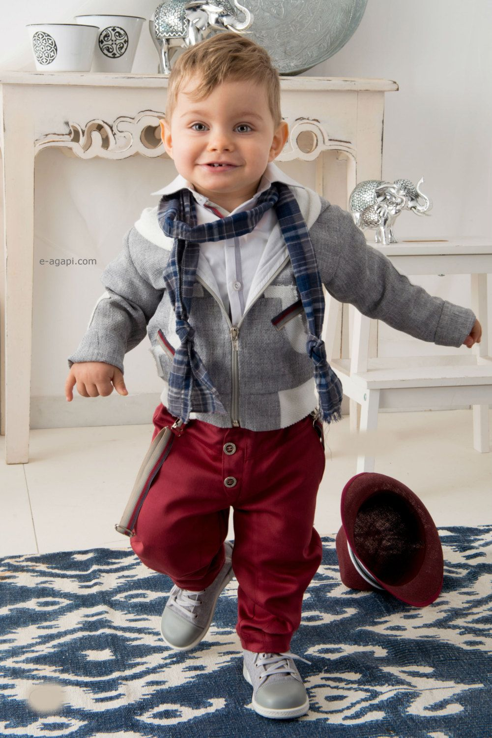 Couture Boy Outfit Toddler Boy Outfit Set Wedding Baby Clothes Greek Baptism Boy Christening Greek Suit Red Blue Wedding Outfit And Shoes Toddler Boy Outfits Toddler Outfits Boy Outfits