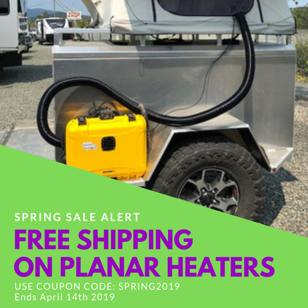 Free shipping on all Planar heaters! RV camping