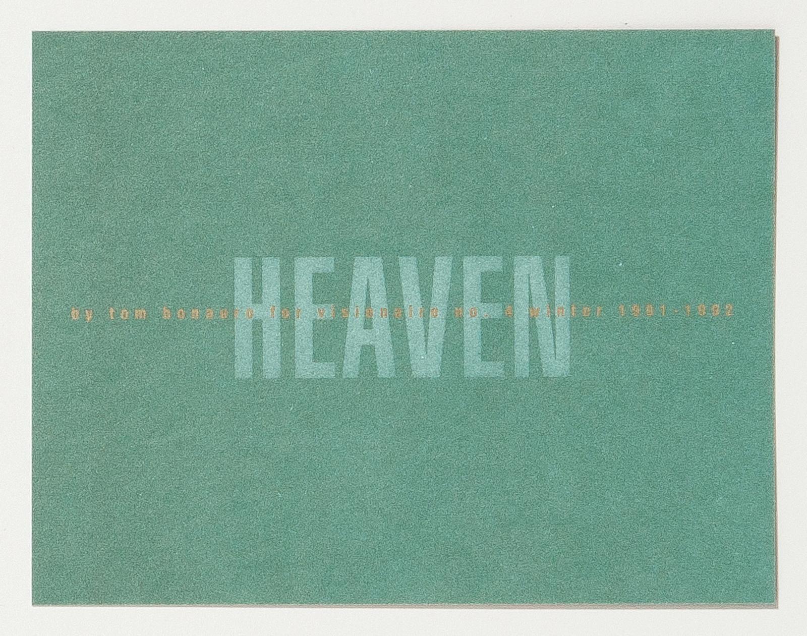 VISIONAIRE 4: Heaven