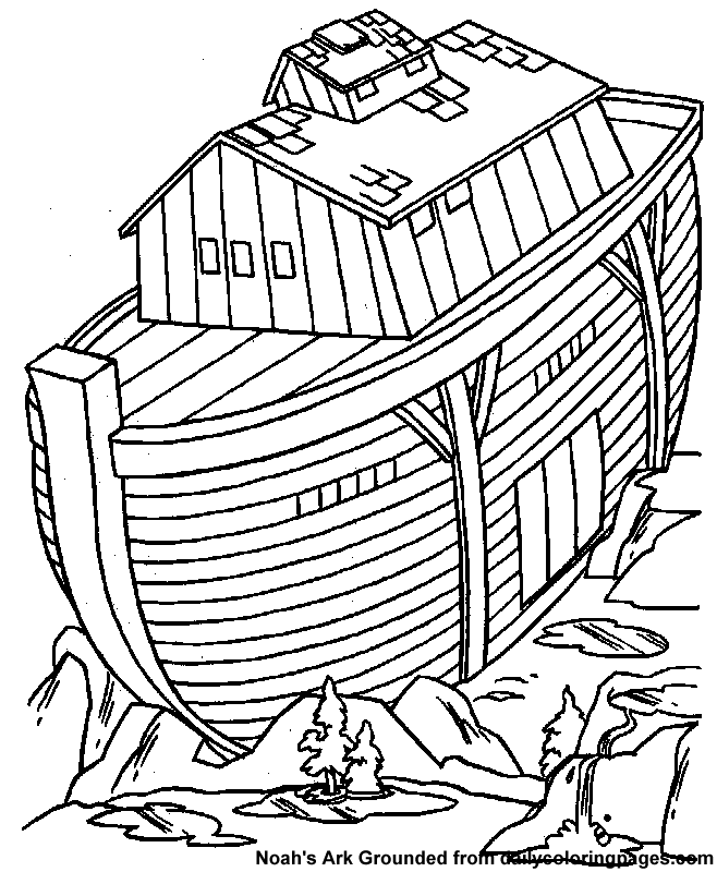 noahs ark coloring pages story - photo#26