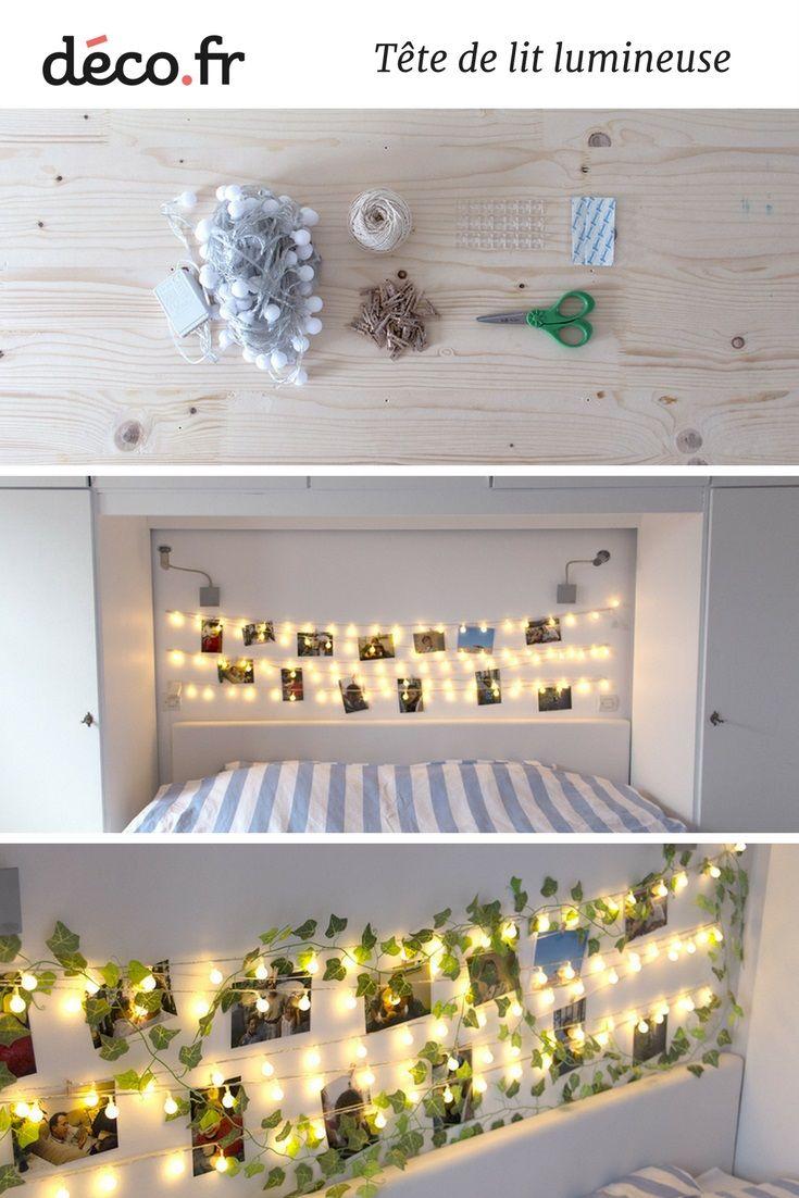 tuto fabriquer une t te de lit lumineuse avec des photos. Black Bedroom Furniture Sets. Home Design Ideas