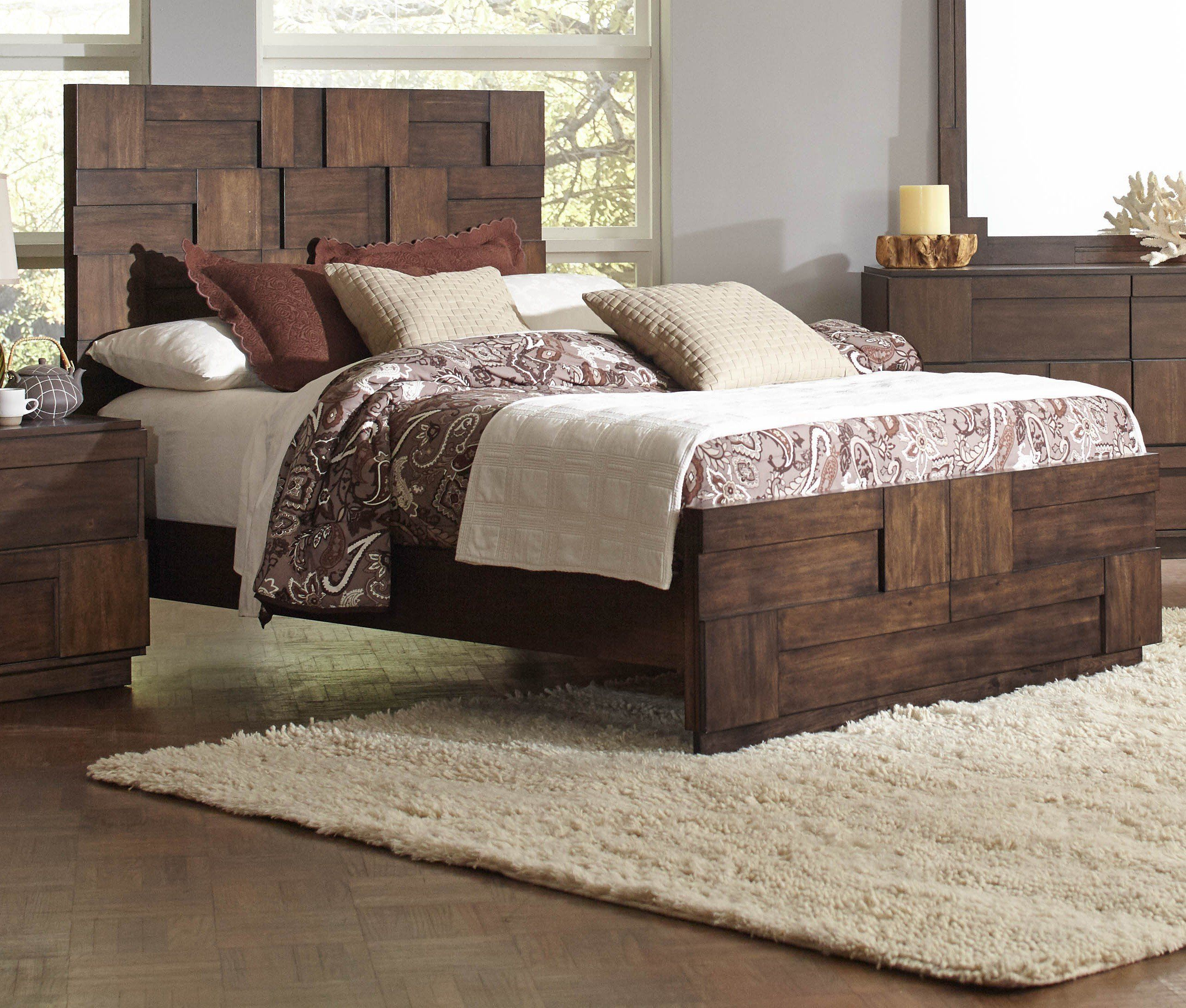 Gallagher Golden Brown Queen Bed | kids bedroom ideas | Pinterest