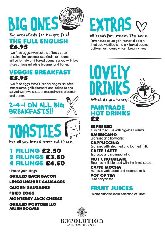 breakfast menu design illustration bar design restaurant graphic design by wwwdiagramdesigncouk