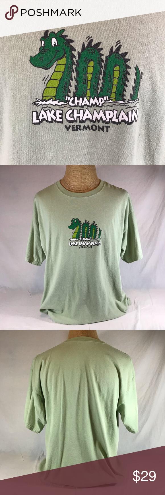 Sold Vermont Champ Lake Champlain Monstertshirt Colorful Shirts Monster Tshirt Lake Champlain