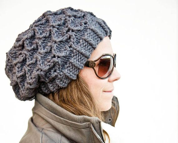 Womens Slouchy Hat Pattern Chunky Knit Bow Tie By Woolibear Crafty