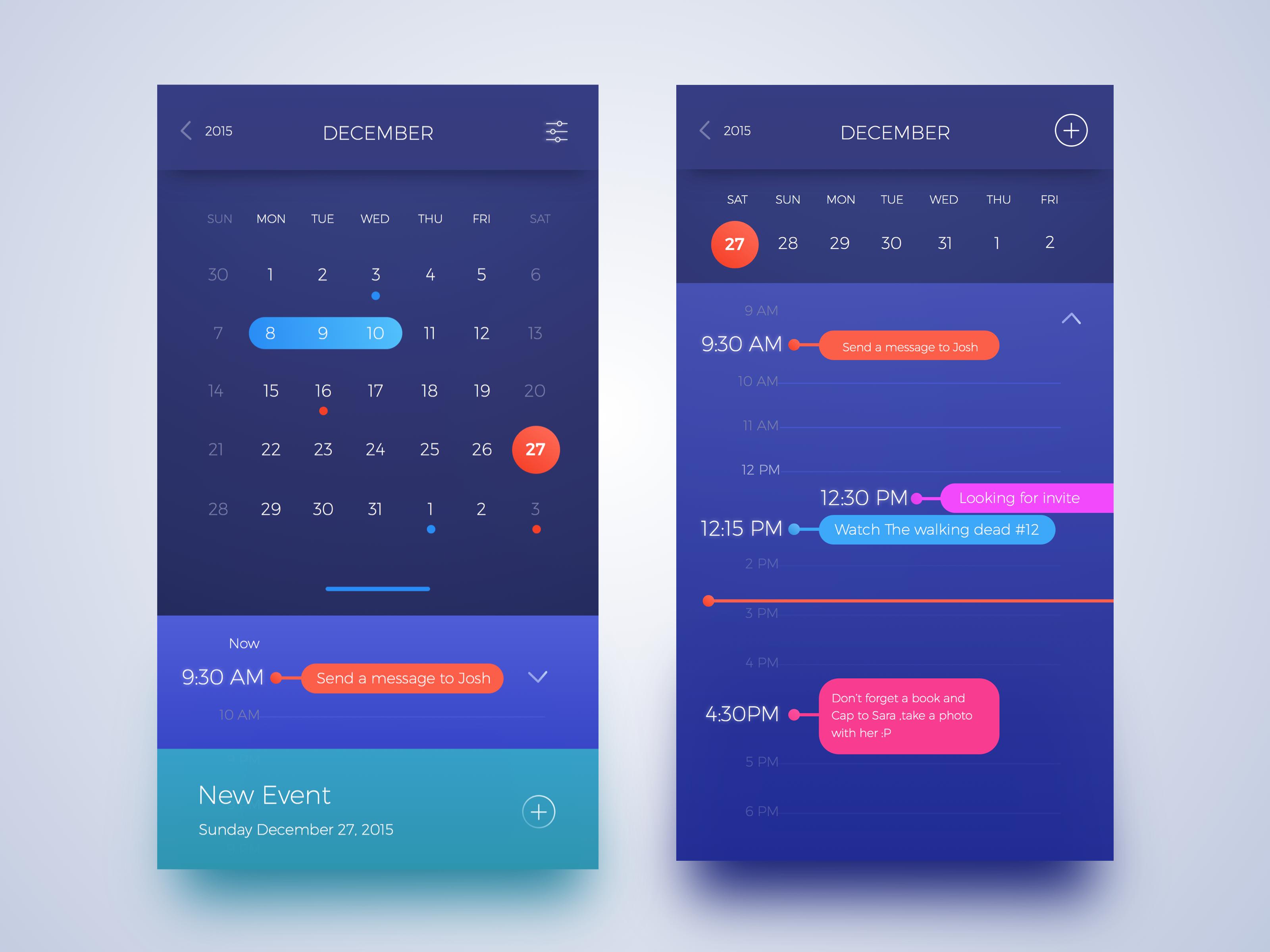 Calendar App Ui : Full calendar design pinterest ui ux app and