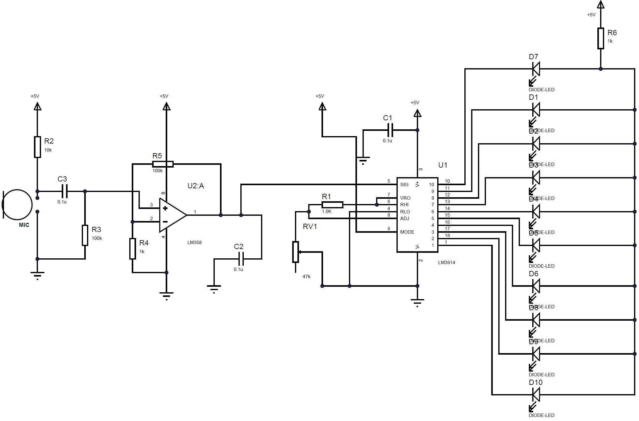 Led Light Diagram In