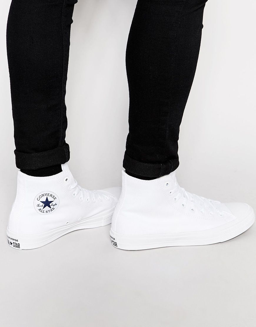 e14be87f1456 Converse+Chuck+Taylor+All+Star+II+Plimsolls+In+White+150148C