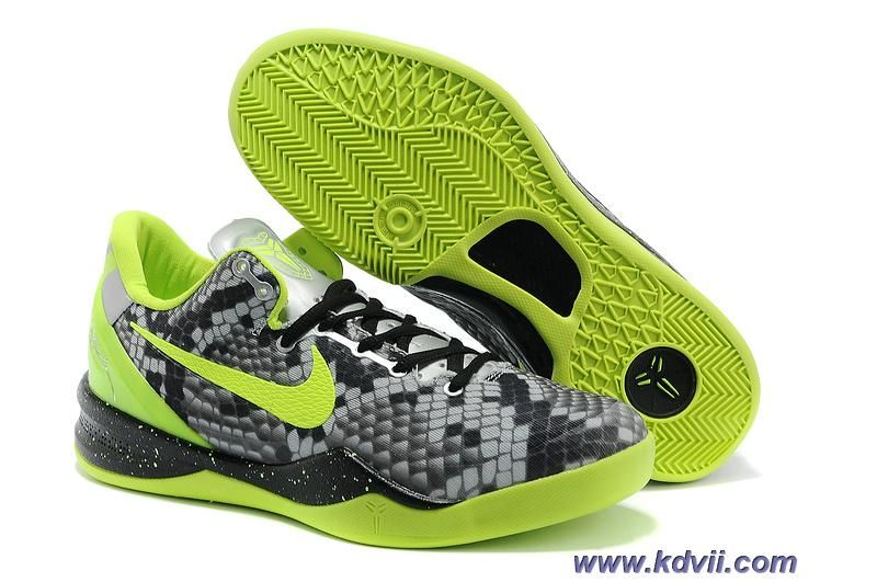 hot sale online f99a0 ff5a1 Nike KOBE 8 GRAFFITI ATOMIC GREEN BLACK WOLF GREY 583112 030 SHOES Outlet