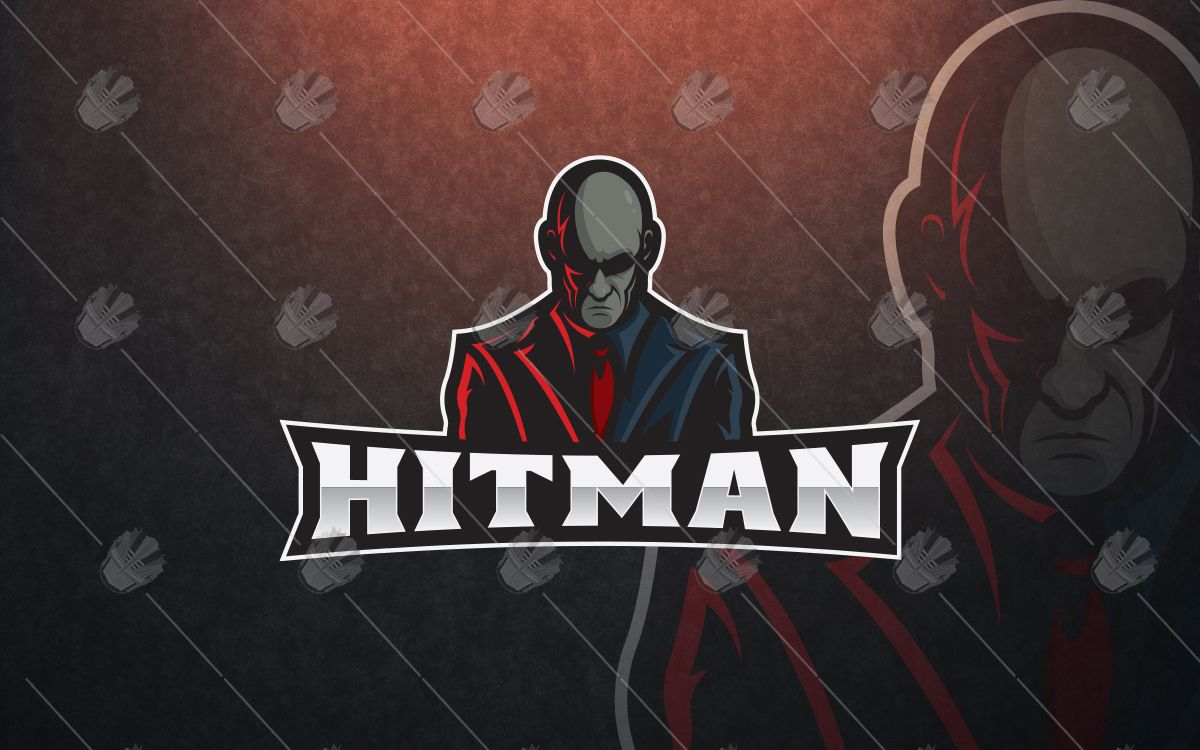 amazing hitman mascot logo hitman