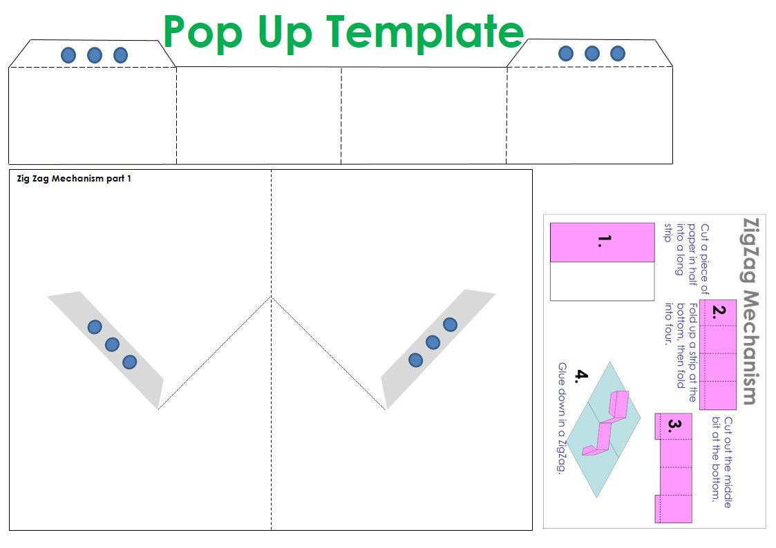 Pop Up Template Pop Up Card Templates Pop Up Book Paper Pop