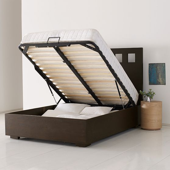 pivot storage bed frame from west elm pinterest storage storage beds and nate berkus. Black Bedroom Furniture Sets. Home Design Ideas