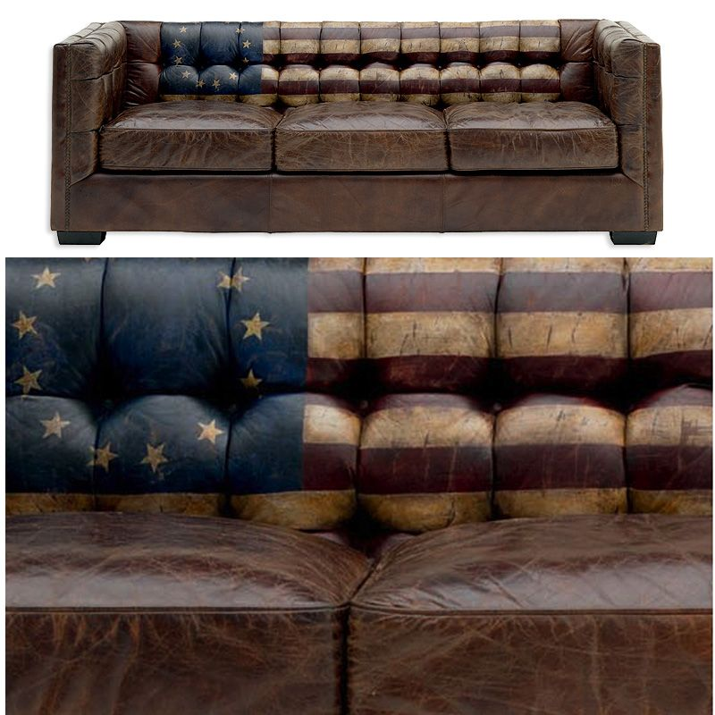 Andrew Martin S Armstong Leather Distressed Sofa With Old