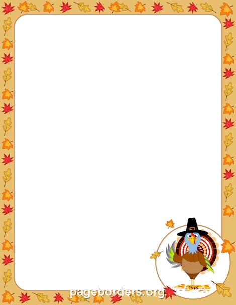 Turkey Border Clip Art Page Border And Vector Graphics Borders For Paper Page Borders Clip Art Borders
