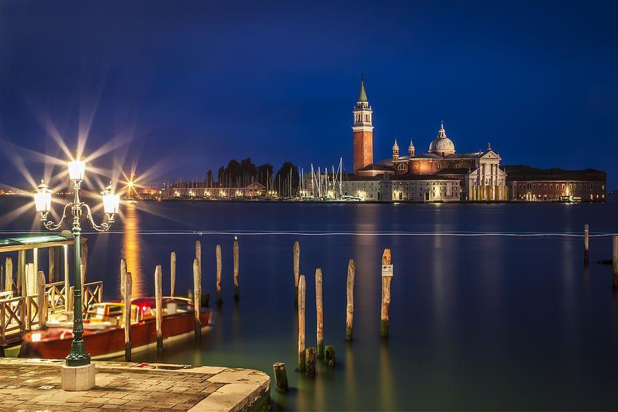 Photo of Venice San Giorgio Maggiore At Blue Hour by Melanie Viola