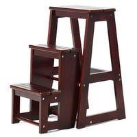 Best Shop Costway Wood Step Stool Folding 3 Tier Ladder Chair 400 x 300