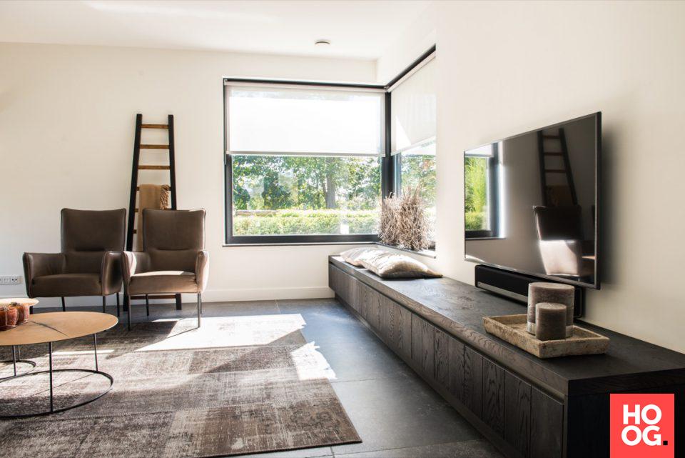 Moderne woonkamer inrichting | woonkamer ideeën | living room ...
