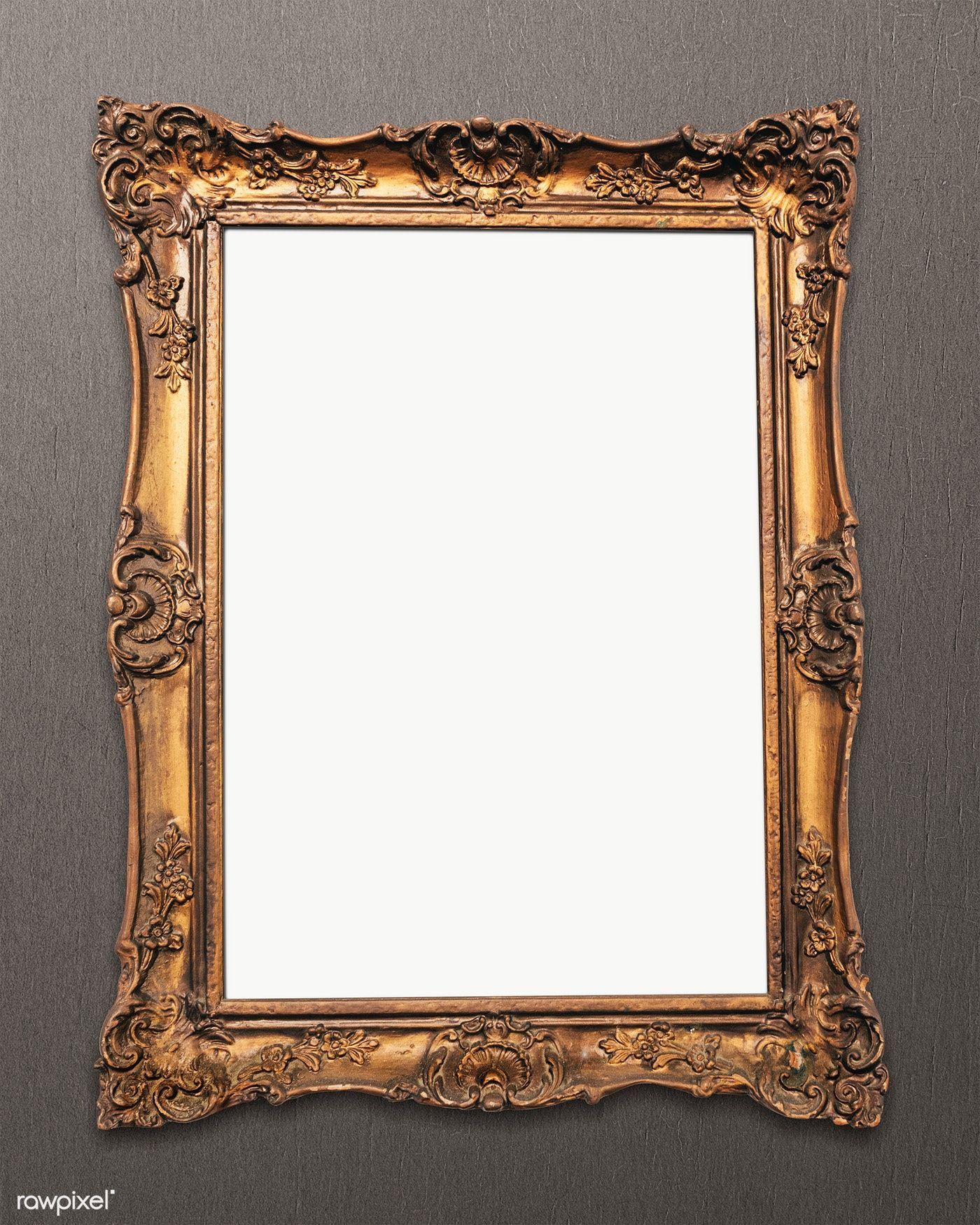 Vintage Gold Picture Frame Mockup Transparent Png Premium Image By Rawpixel Com Jira Gold Picture Frames Transparent Picture Frames Vintage Picture Frames