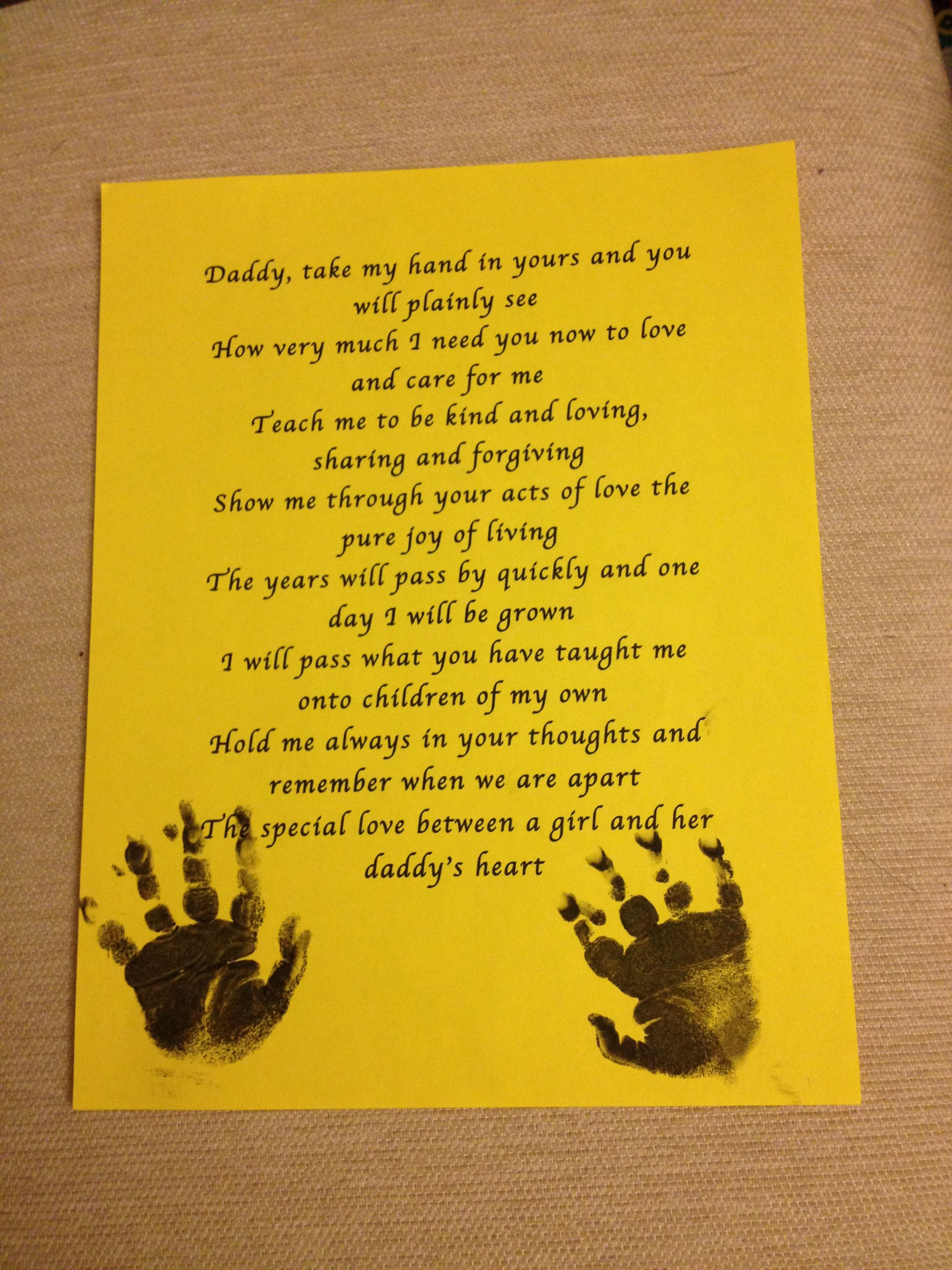Daddy Daughter Poem