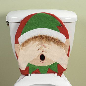 1499 Christmas Funny Elf Toilet Seat Cover Topper From OTC Get It Here