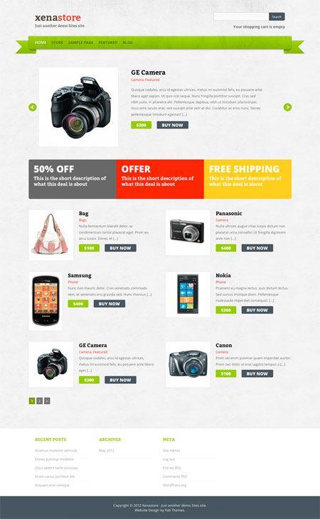 Xenastore theme by FabThemes | Free WordPress eCommerce Themes ...