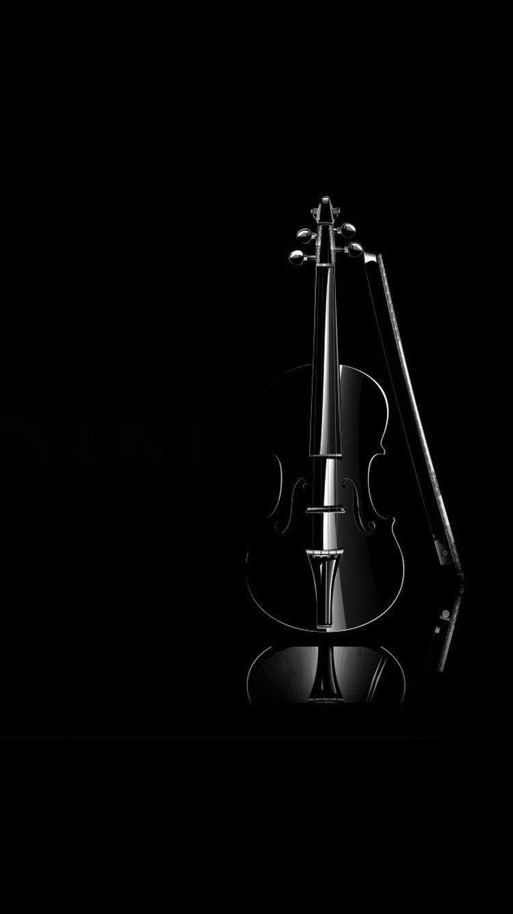 Iphone Chello Instrument Black Wallpaper Black Violin Anime Wallpaper Phone Music Wallpaper