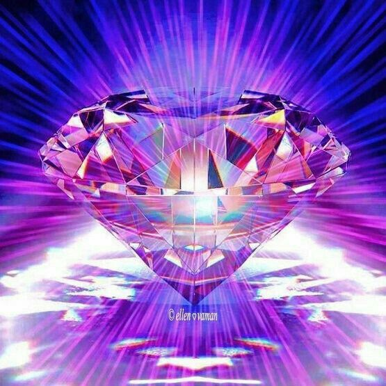 Purple Diamond Light A Symbol For Activation Of Crown Chakra