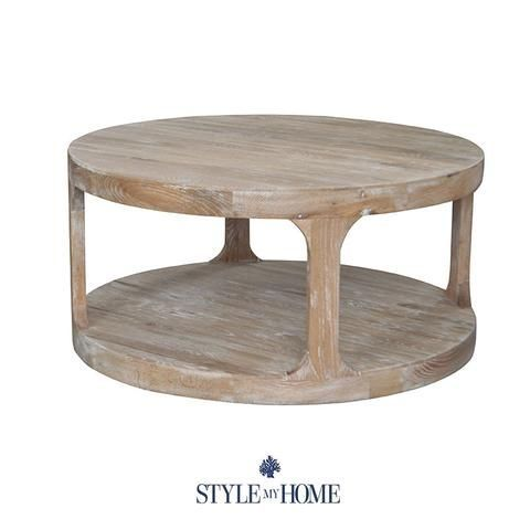 Milla Whitewash Round Coffee Table Style My Home Sydney Australia