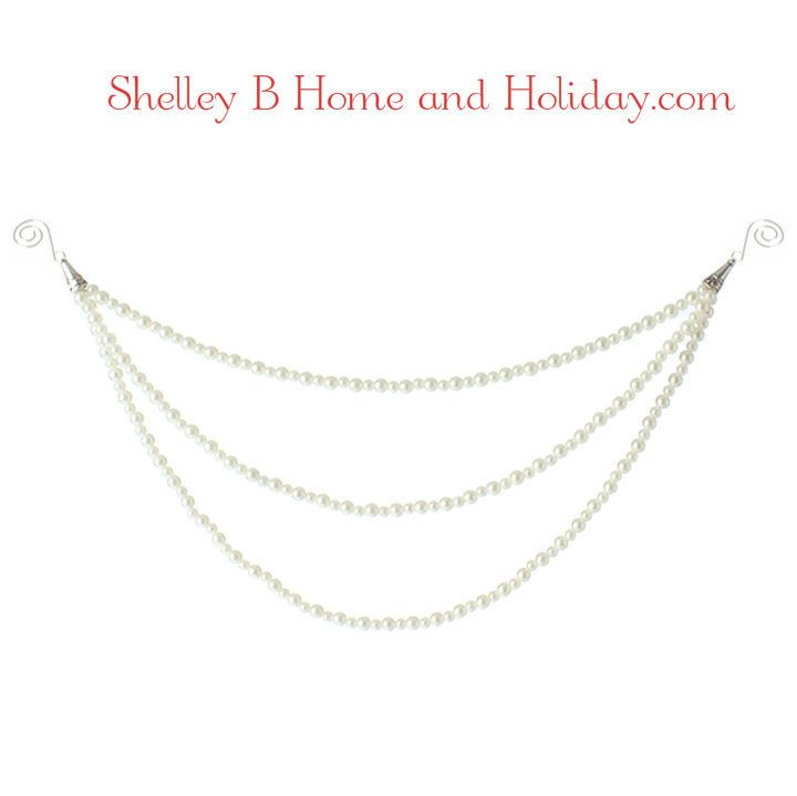 Pearl Garland For Christmas Tree: White Pearl Cascading Garland