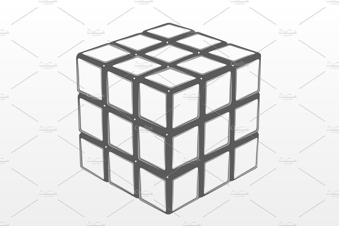 Rubik S Cube Ad Affiliate Colored Background Drawing