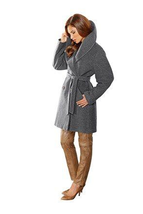 Γυναικείο παλτό γκρι - Alba Moda  d9a686a35ff