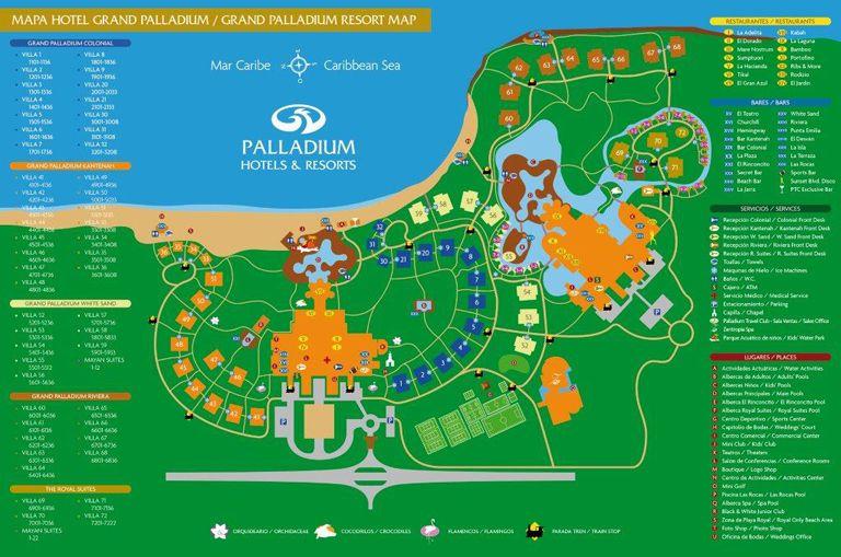 Grand Palladium Complex Map Grand Palladium Riviera Maya