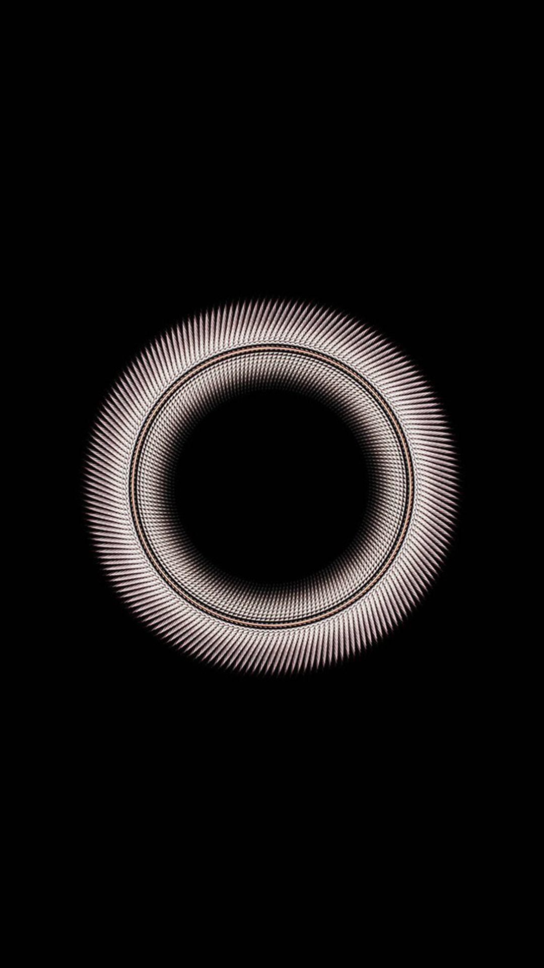 Circle Dark Inside Minimal Simple Pattern Background Iphone 8